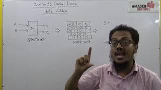 Half Adder | HSC ICT Chapter 3 | Digital Device | Saadi Sir
