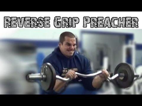 Reverse Grip Preacher Curls