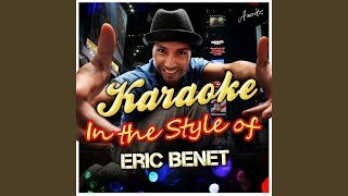 Spend My Life With You (In the Style of Eric Benet) (Karaoke Version)