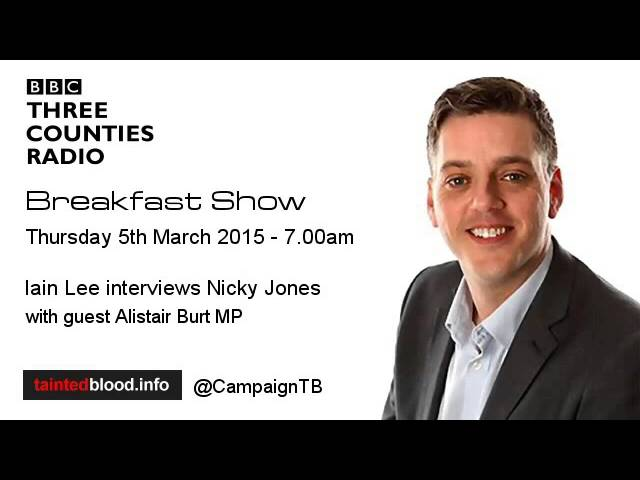 Three Counties Radio - Nicky Jones & Alistair Burt - 5th March 2015
