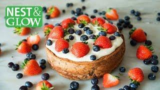 Chickpea StrawberryCake - Vegan & Gluten-free