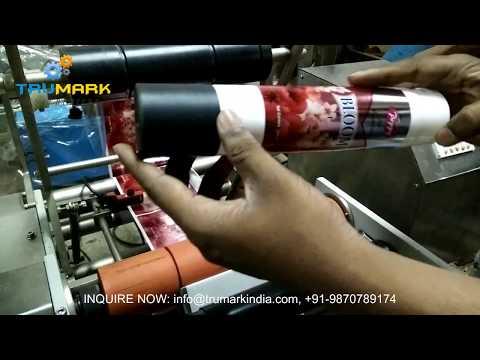 table top bottle labeling machine ETICHETTATRICE SEMIAUTOMATICA PER BOTTIGLIE