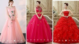 Princess Style Long Gown Dress Designs 2017 // Latest Gown Designs