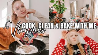 COOK, CLEAN & BAKE WITH ME! CHILL DAYS AT HOME ♡ VLOGMAS 2019