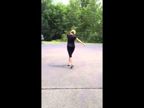 Right leg forward karaoke shuffle