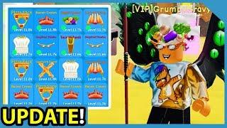 New Update! Legendary Hats + Sword! Garden Grove Area! - Roblox Unboxing Simulator
