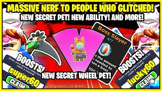 TAPPING SIMULATOR - MASSIVE NERF! IF YOU GLITCHED YOUR STATS NERFED! NEW CODES, NEW REBIRTH SKILL!