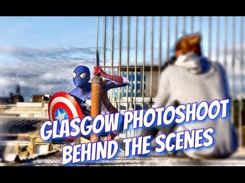 Captain Spider-Man Cosplay Photoshoot, BTS Glasgow Rooftops