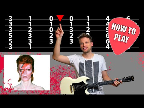 David Bowie - Starman - Guitar Lesson (Chords on Screen)