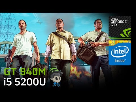 "GT 940M Gaming \ GTA V (""GTA 5"") Gameplay"