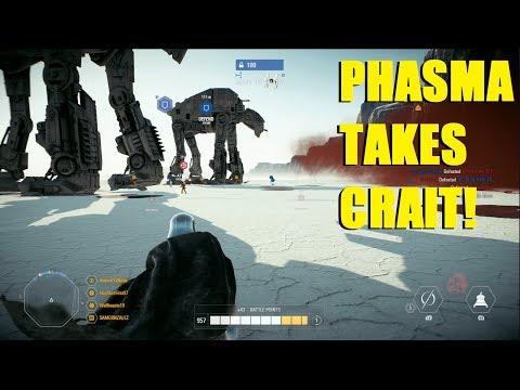 Star Wars Battlefront 2 - Captain Phasma takes Crait! Huge Phasma killstreak! thumbnail