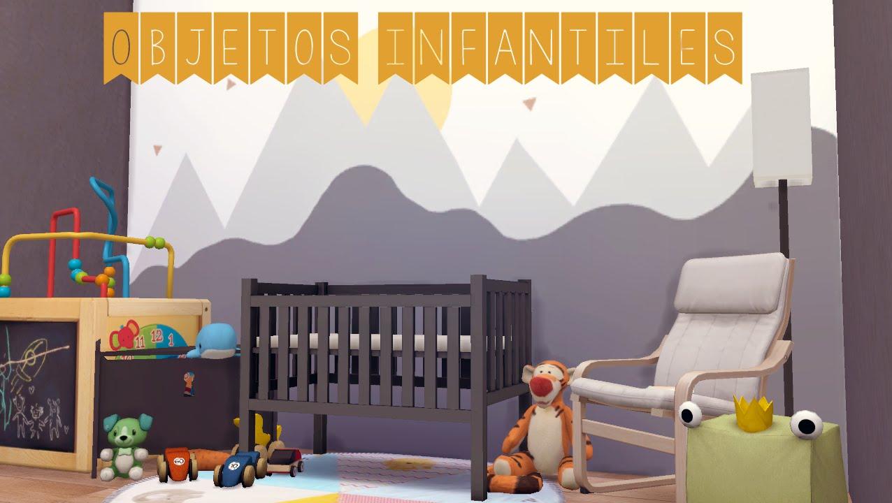 Los sims 4 juguetes cunas coches de beb s y paredes - Goyvi coches y cunas ...