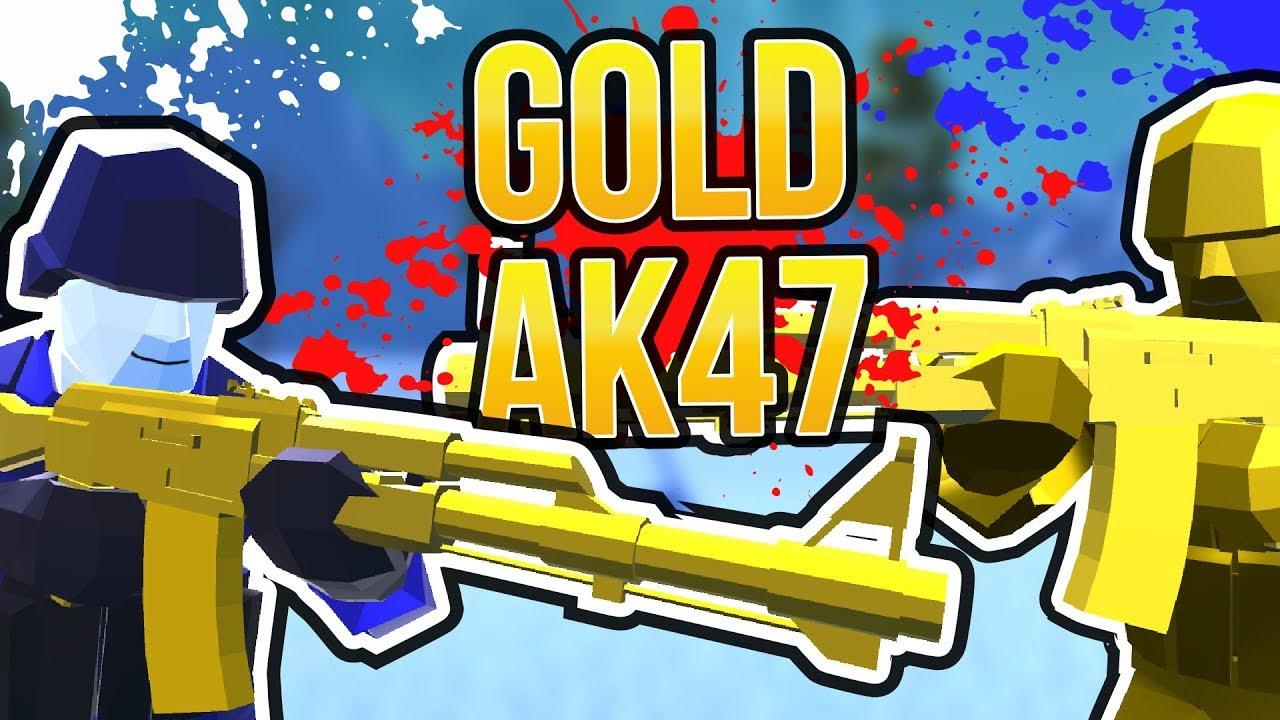 RAVENFIELD GOLD AK47 | Golden Kalashnikov Ravenfield Mod Gameplay and  Tutorial