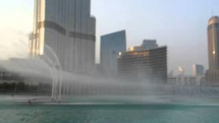 Dubai Fountain Show from Abra (Boat)
