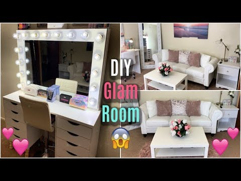 my-new-glam-room- -diy-makeover-+-tour