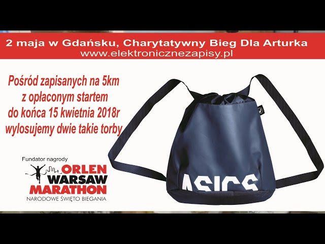 Bieg Dla Arturka LOSOWANIE Orlen Warsaw Marathon