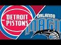 Detroit Pistons vs Orlando Magic Live