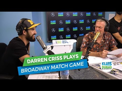 Darren Criss Plays the Broadway Match Game | Elvis Duran Exclusive