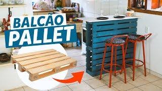DIY – COMO FAZER BALCÃO DE PALLET (FÁCIL)