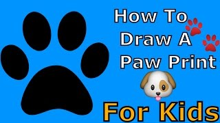 How To Draw A Paw Print (Simple)