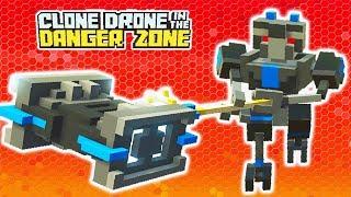 СМЕРТЕЛЬНАЯ БИТВА РОБОТОВ НА ОПАСНОЙ АРЕНЕ! Мульт игра для детей Clone Drone in the Danger Zone