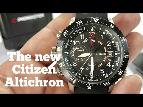Citizen Eco-Drive Promaster Altichron Altimeter Compass Solar Watch Review BN5058-07E