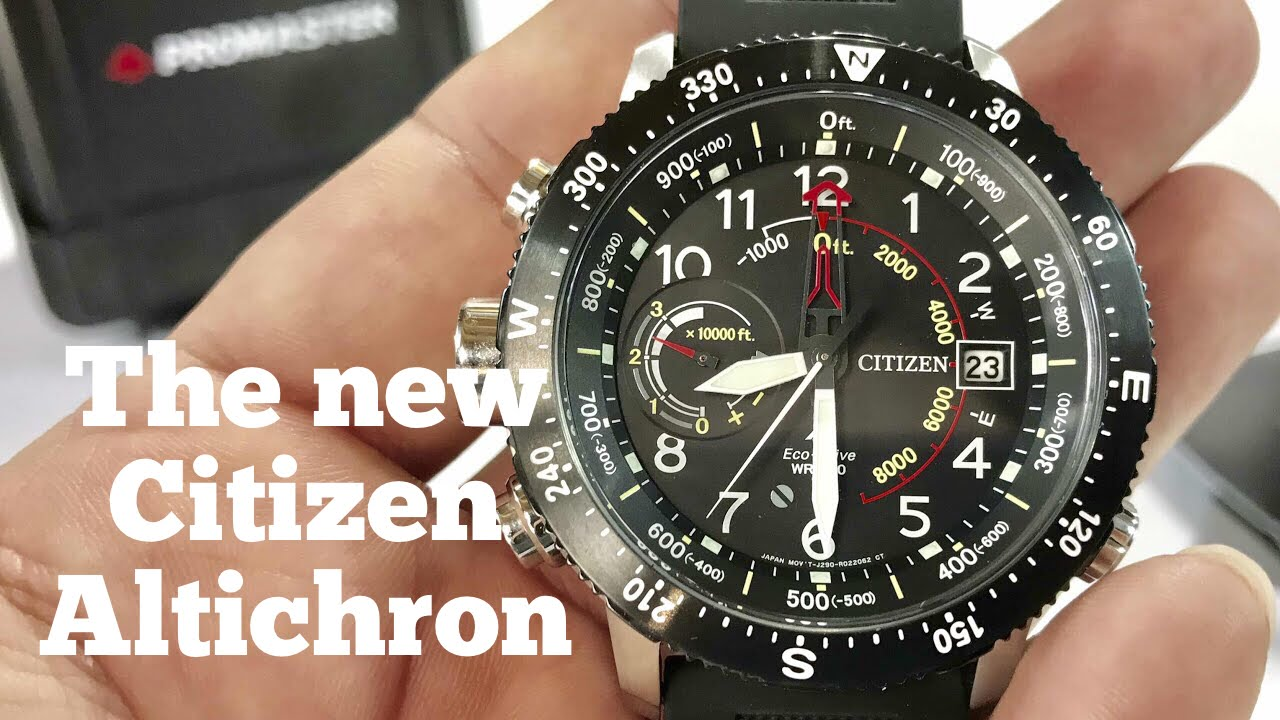 e7cf24540c6 Citizen Eco-Drive Promaster Altichron Altimeter Compass Solar Watch Review  BN5058-07E