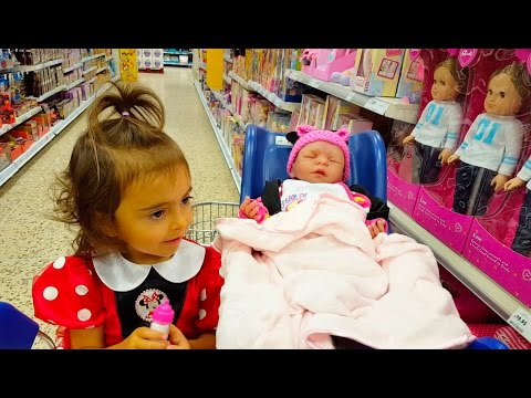 Thumbnail: Little Girl Doing Grocery Shopping / Cute Reborn Silicone Baby Reaction