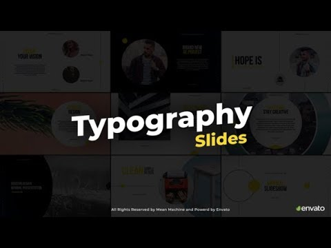 Typography Slides - After Effects template - 동영상
