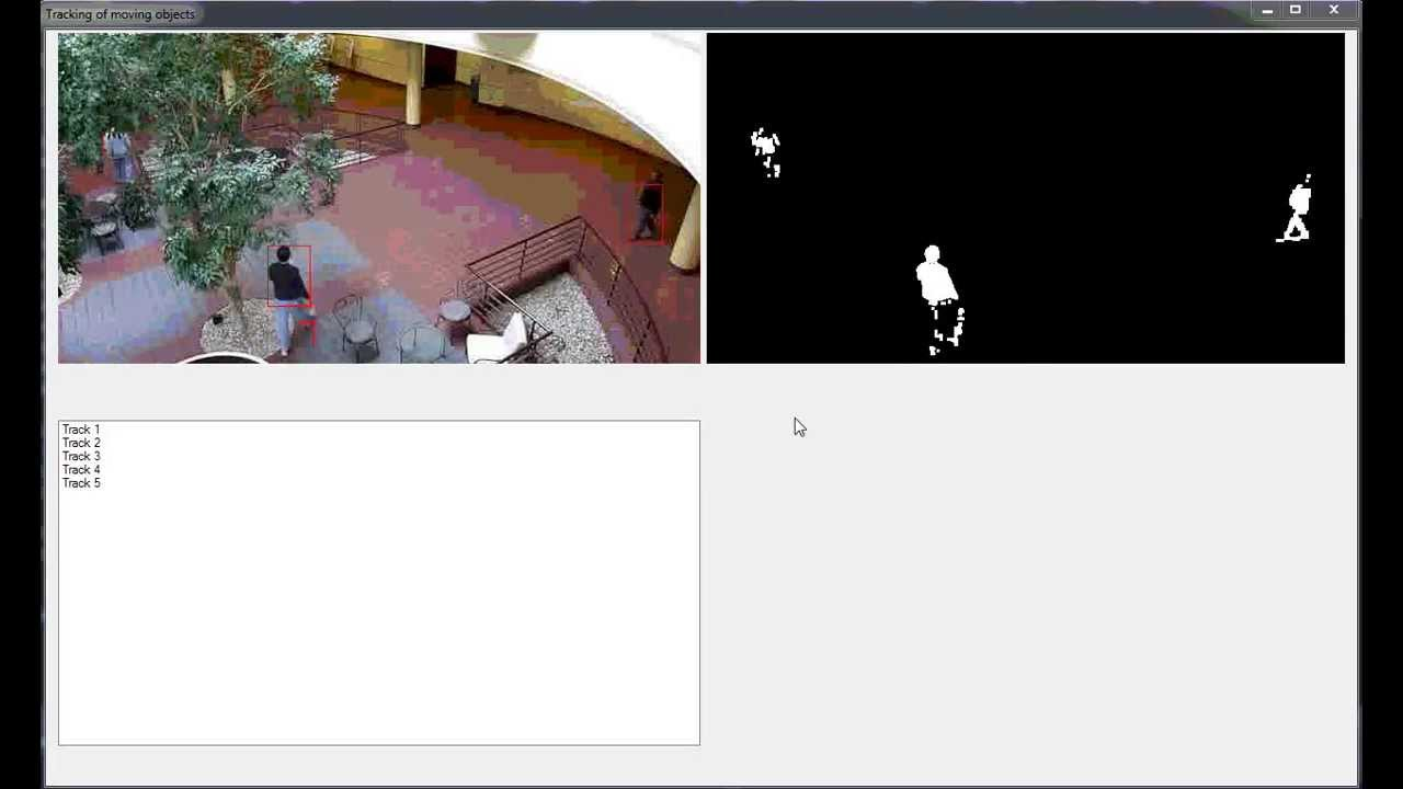 Motion detection and objects tracking algorithm