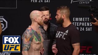 Jeremy Stephens vs Josh Emmett face-off | WEIGH-IN | UFC on FOX