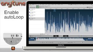 Quickly break apart a song using autoLoop with the Anytune Music Slow Downer app for Mac and iPad