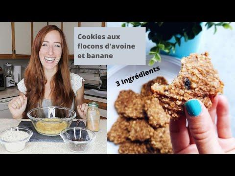 biscuits-aux-flocons-d'avoine-et-banane,-vegan,-recette-facile,-3-ingrédients-.