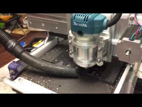 Dry machining steel with DIY CNC mill