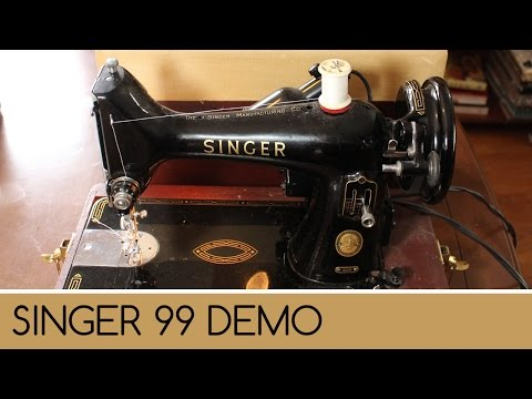 Singer 99: How to Wind and Thread Sewing Machine