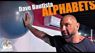 Dave Bautista Standing Alphabets (YOGA BALL!)