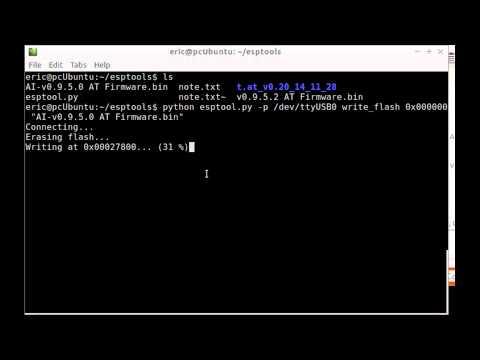 Flash ESP8266 Firmware Using Esptool.py