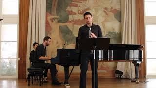 Elias Rodriguez and Daniel Schreiner play Poulenc: Clarinet Sonata
