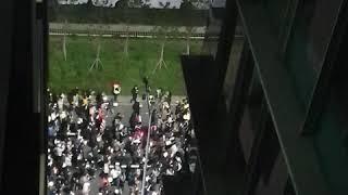 여의도순복음교회 앞 행진