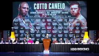 HBO Boxing News: Cotto-Canelo Final Press Conference