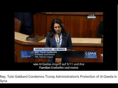 US-Abgeordnete Tulsi Gabbard verurteilt die Unterstützung von Terroristen durch die USA