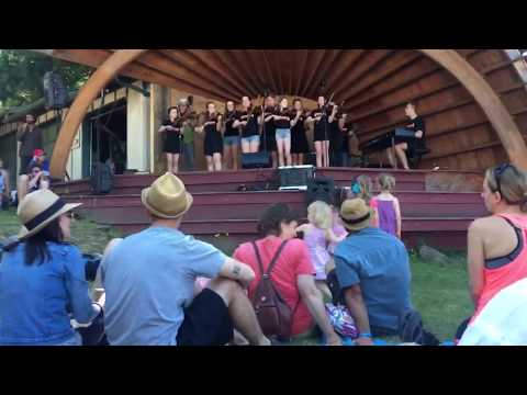 BC Fiddle Orchestra at Campbell Bay Festival, Mayne Island, part 1