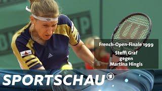 Steffi Graf im French Open-Finale 1999 gegen Martina Hingis   Sportschau