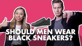 Should Men Wear Black Sneakers?