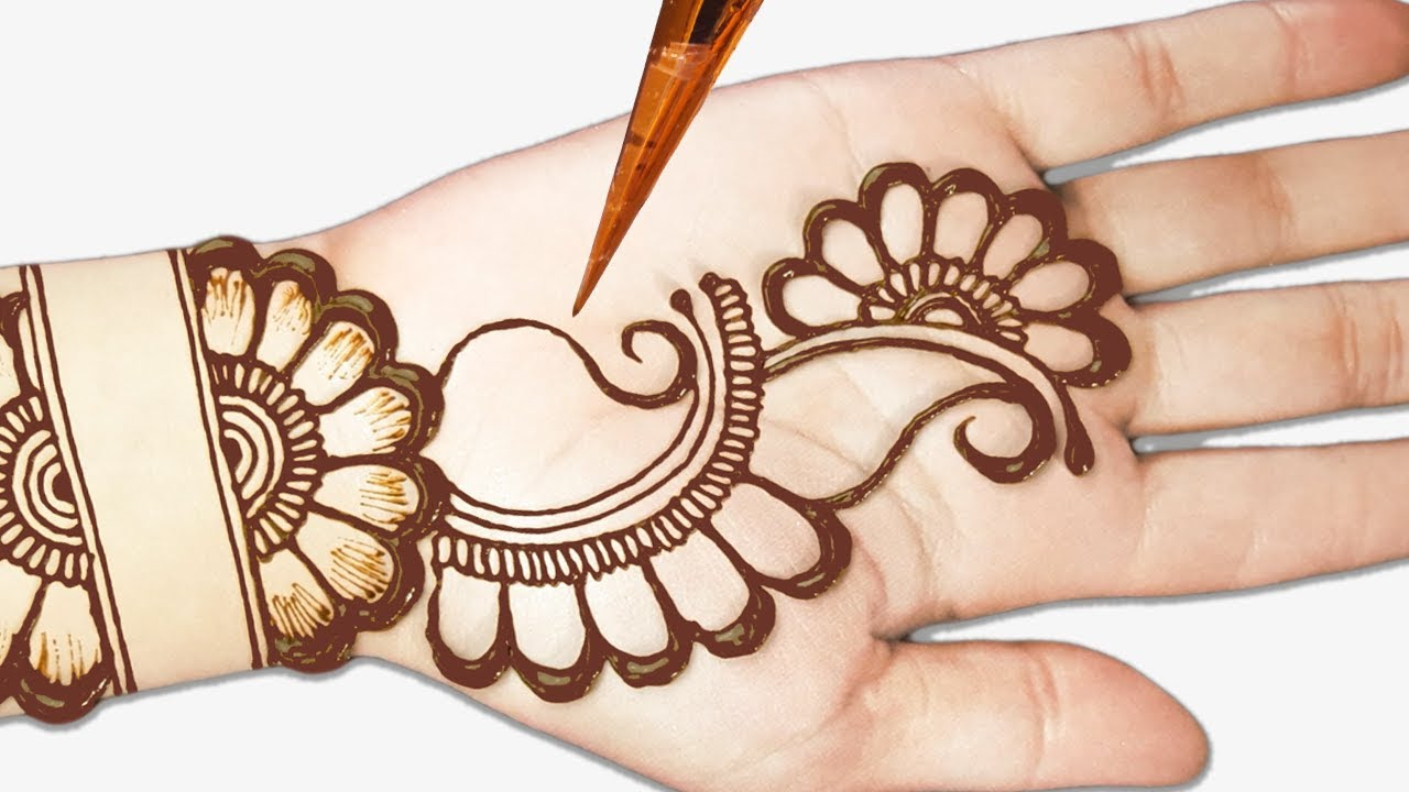 Simple Mehndi Design Images Front Hand
