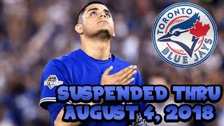 Roberto Osuna Suspended 75 Games! Available August 4! Toronto Blue Jays News on Dolynny TV