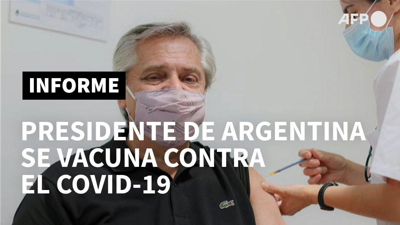 Presidente argentino Alberto Fernández recibe la vacuna Sputnik V contra el  covid-19 | AFP - YouTube