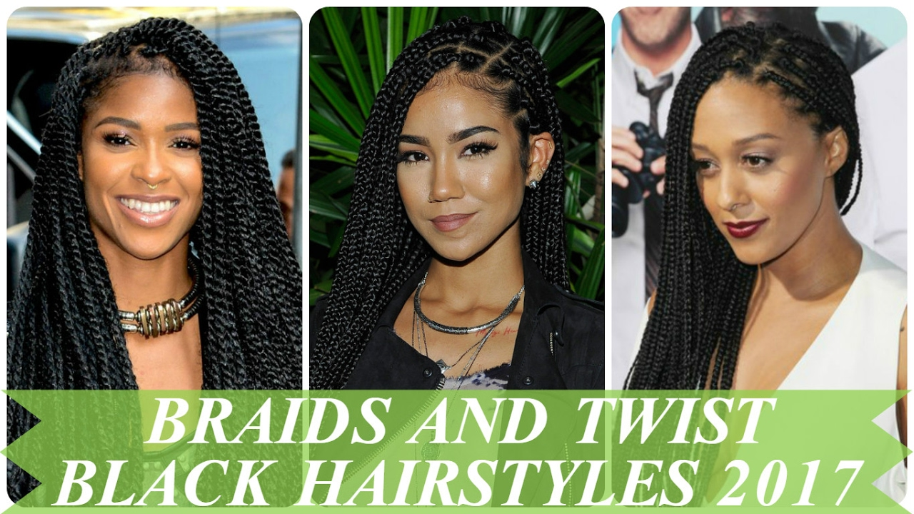 Braids and twist black hairstyles 2017 - YouTube