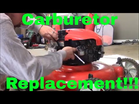 How to Replace the Carburetor on a Troy Bilt Push Mower