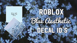 Roblox Blue aesthetic Decal ID ' s